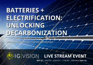 Batteries Electrification